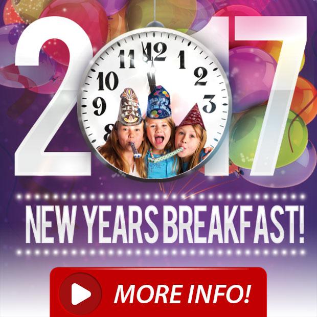 NOON Years Eve Breakfast & Countdown!